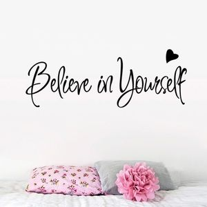 Other - Believe In Yourself Removable Vinyl Wall Quote.